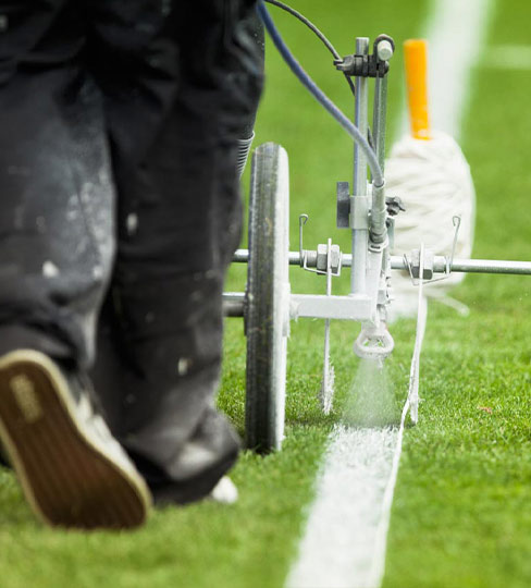 GPH Grounds Maintenance Burton on Trent Pitch Marking Service with Sports Line Painting in Derby area