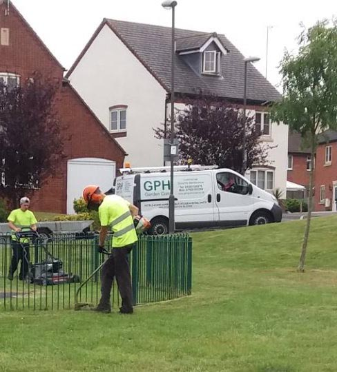 GPH Grounds Maintenance Burton on Trent clearing land for Schools and Sports fields
