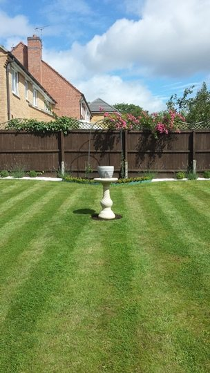 Garden after a grass cut and treatment