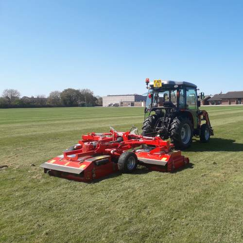 Sports Field Grounds Maintenance Service in action in Burton on Trent School